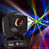 Ridgeyard 230w 7R 8 Prism DMX 512 Moving Head Zoom Light 16CH Beam Wash Spot Gobo Light DJ Disco Club Party Wedding Stage Christmas (Color: Black, Tamaño: 230w)