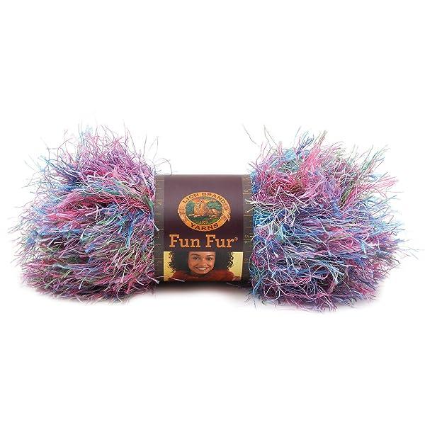 Lion Brand Yarn 320-208A Fun Fur Yarn, Tropical