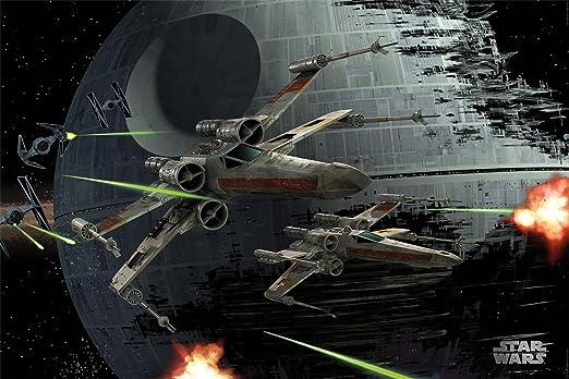 Star Wars X-Wings Space Battle Poster
