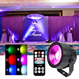 KOOT DJ Stage Light, DMX COB LED Wash Disco Lights with 7 DMX Control and Remote Control, for Wedding Birthday Bar Club Church Party Dance (Color: Style 2)