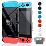 Dockable Cover Case for Nintendo Switch, FYOUNG Protective Case for Nintendo Switch with Screen Protector for Nintendo Switch - Crystal Clear (Color: Clear)