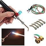 JMsDream Hot Sale Jewelers Micro Mini Gas Little Torch Welding Soldering Kit & 5 Tips (Color: Black)