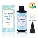 LET'S RESIN Clear UV Resin-Transparent UV Curing Ultraviolet Cure Resin, Solar Cure Sunlight Activated Resin Hard Type Adhesive Glue for Resin Jewelry,Resin Craft, Resin Molds(120g) (Tamaño: 120g)