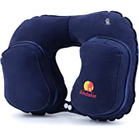 Andake Inflatable Travel/Neck Pillow (Navy blue)