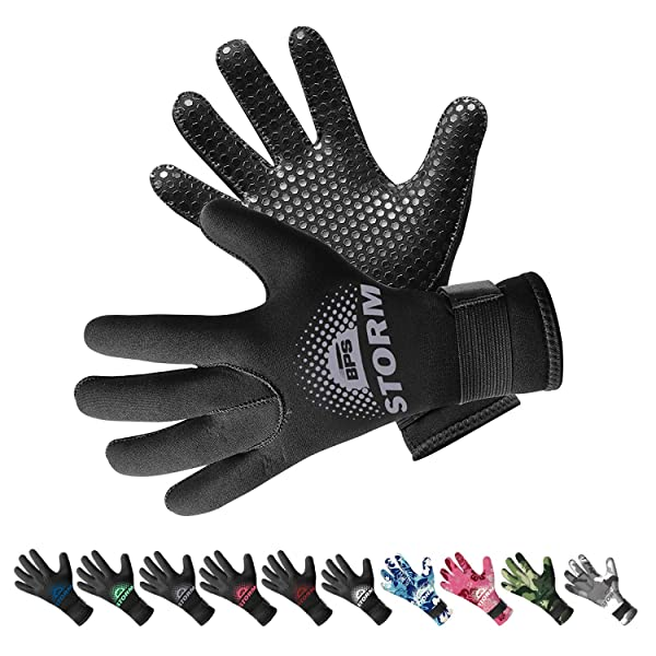 1.5mm Neoprene Anti-Slip Scuba Diving Surfing Water Sport Gloves fit for Adults