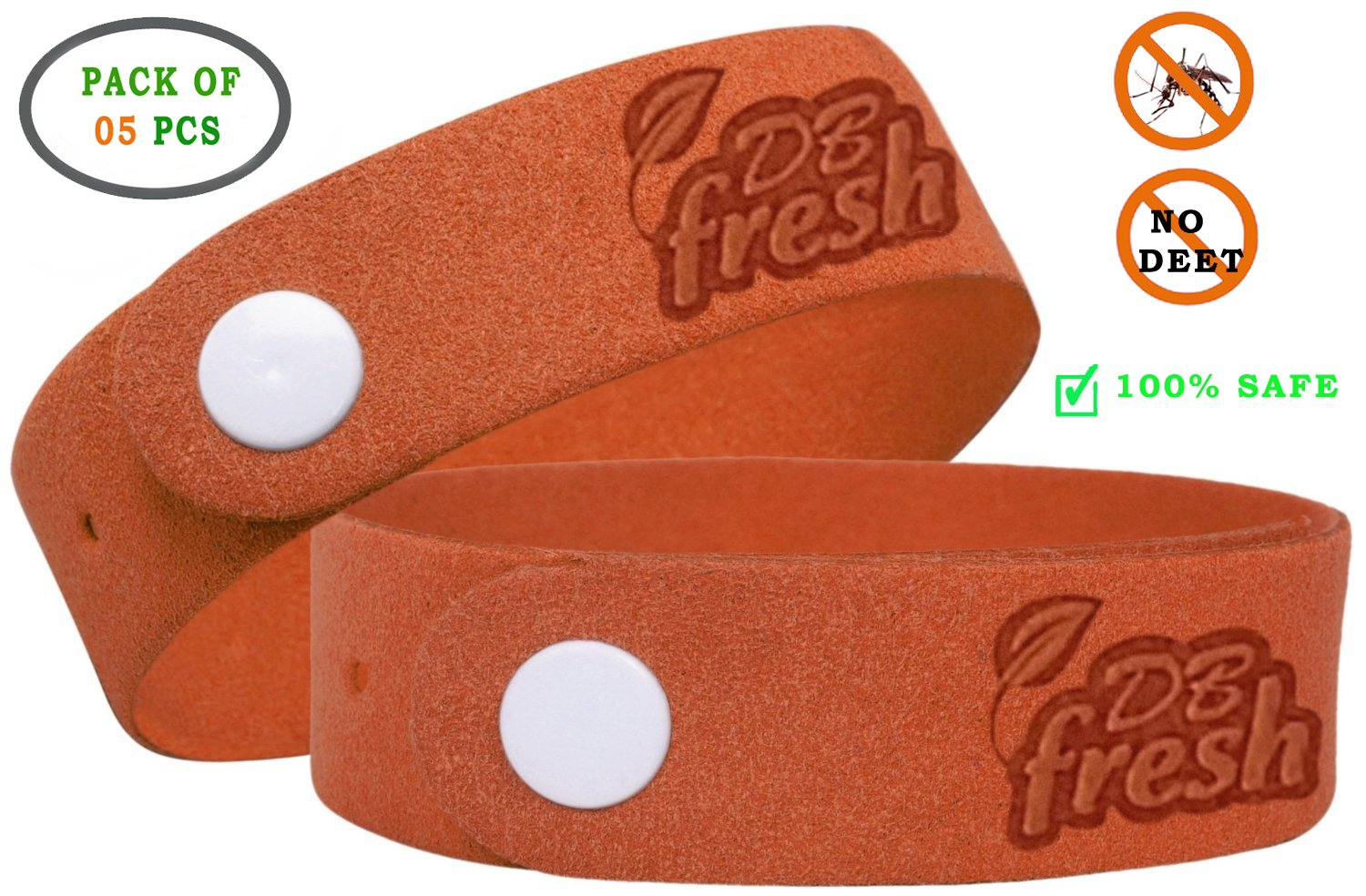 Non Toxic Deet Free Natural Insect Repellent Bracelets
