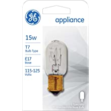 GE Lighting 35153 15-Watt Appliance Intermediate Base T7 1CD Light Bulb