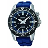 Seiko Men's SKA563 Sportura Diver Japanese Quartz Watch (Color: Black/Blue, Tamaño: Men's Standard)
