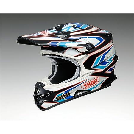 Casque Motocross Shoei VFX-W Blockpass TC2 Bleu-Blanc-Noir