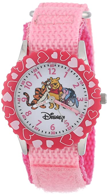 Disney Kids' W000097 Winnie the Pooh & Friends Stainless Steel Time Teacher Watch