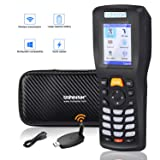 Trohestar Wireless Barcode Scanner 1D Cordless Data Collector Handheld Portable Data Terminal Inventory Device Wired & Wireless Bar Code Reader with LCD Screen Include Tool Case (Chargable Model) (Color: 8103 Barcode Scanner)