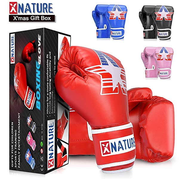New PU Kids Boxing Gloves Cartoon Sparring Thai MMA Training For Children Gift