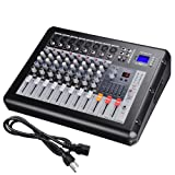 AW 8 Channel Pro Powered Mixer w/ USB Slot DJ Power Mixing 110V 16.5