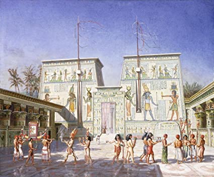 The Temple at Philae by Henry Hardinge Cunynghame Wall Mural - 42 Inches W x 35 Inches H - Peel and Stick Removable Graphic