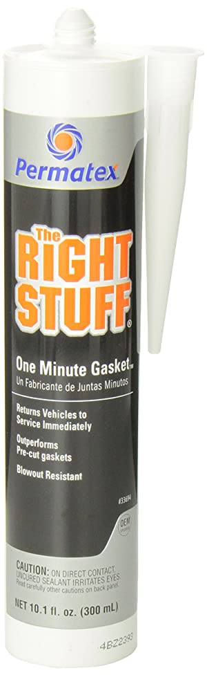 Permatex 33694 The Right Stuff Gasket Maker, 10.1 oz. (Color: Black, Tamaño: Pack of 1)