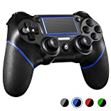PS4 Controller ORDA Wireless Gamepad for Playstation 4/Pro/Slim/PC and Laptop with Vibration and Audio Function, Mini LED Indicator, USB Cable and Anti-Slip - Blue (Color: Blue)