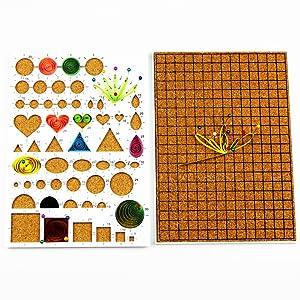 YURROAD 19pcs Paper Quilling Tools Kit Paper Strips DIY Tool Set (Color: Tools Kit, Tamaño: Quilling Tools Kit)