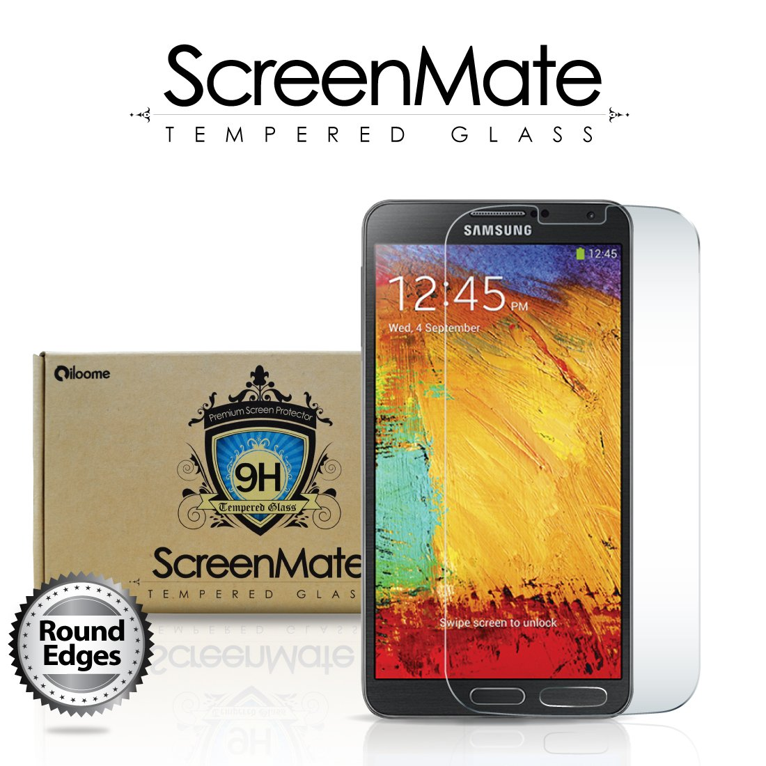 Samsung Galaxy Note 3 ScreenMate Real Tempered Glass
