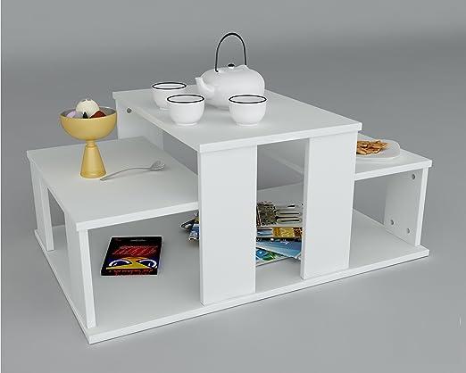 Couchtisch ECHELON - Weiß - Moderner Wohnzimmertisch in trendigem Design