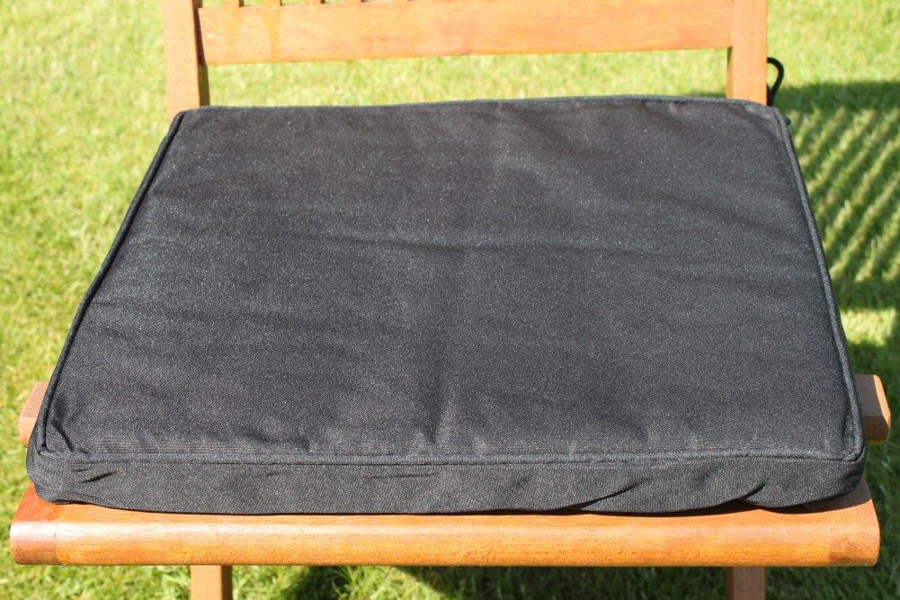 Gartenmöbel-Auflage – Sitzkissen für Klappstuhl in Schwarz günstig bestellen