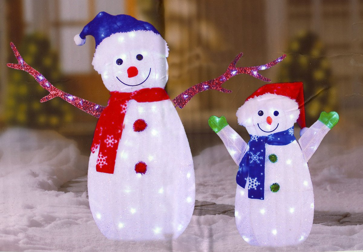 Snowman Lighted Yard Displays Christmas Wikii