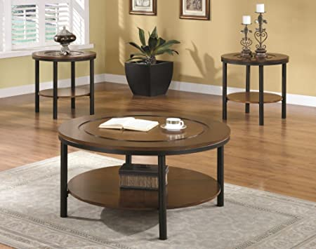 Monarch Brown Coffee Table Set