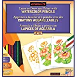General Pencil Learn Watercolor Pencil Techniques Now Kit (Color: Assorted)