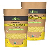 Organic Yellow Beeswax by Sky Organics (2 x 1lbs) (Color: Yellow, Tamaño: Pack of 2)