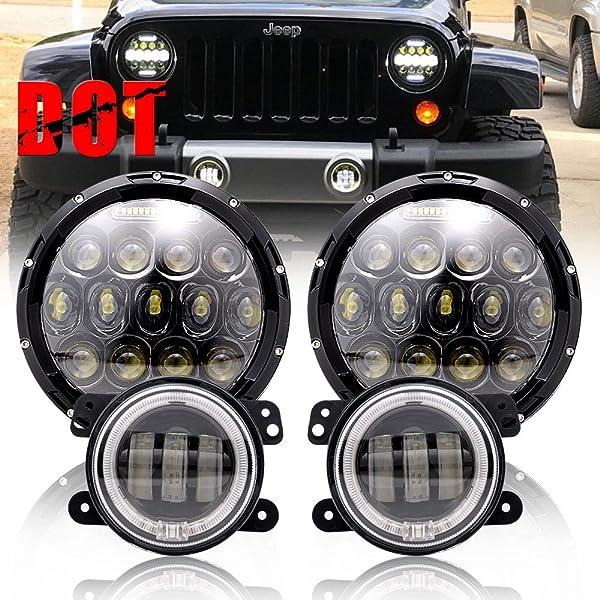 """Pair 4/"""" 30W Fog Light LED Front Bumper Lights For 2007-2017 Jeep Wrangler"""