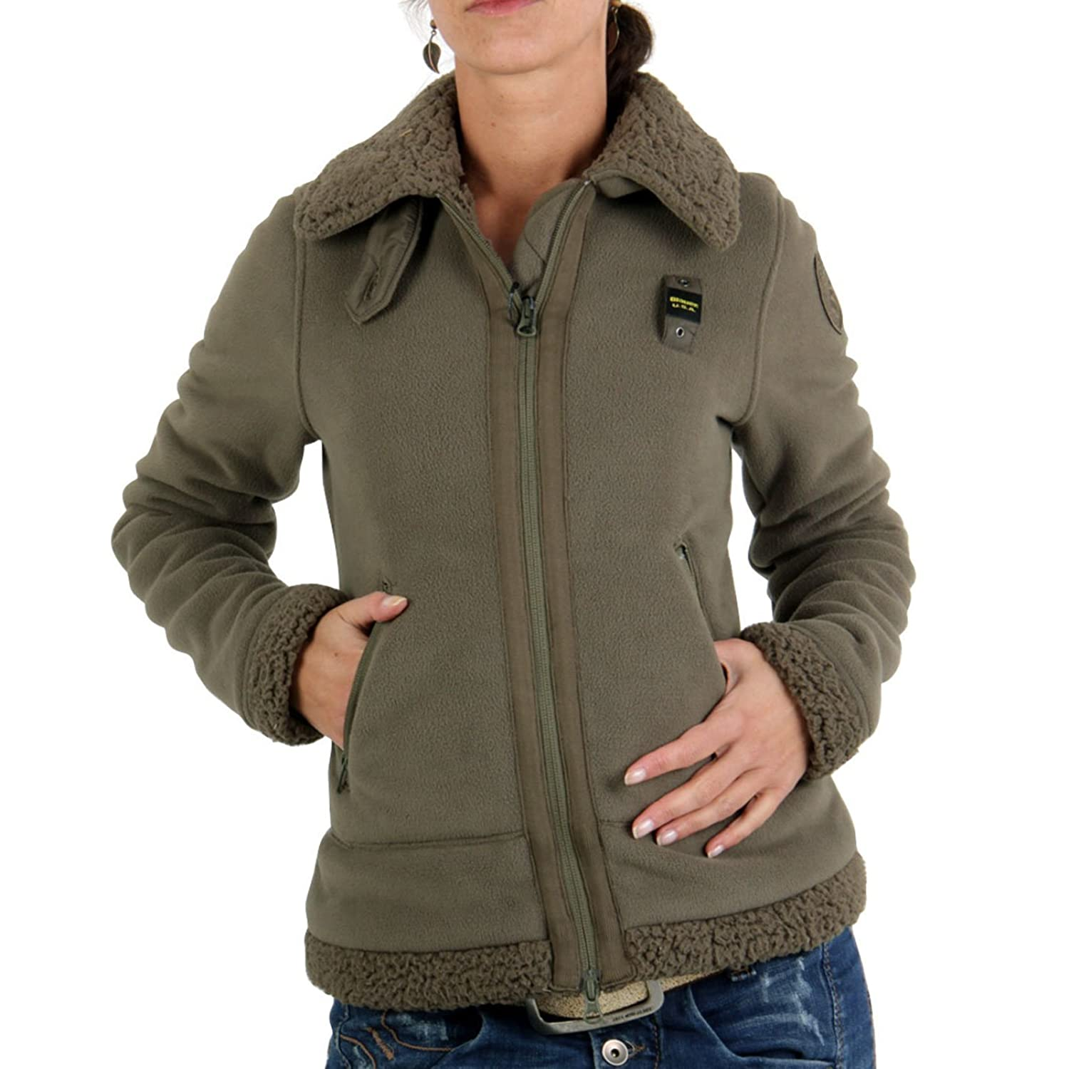BLAUER USA Damen Winter Fleecejacke Army BLD0327