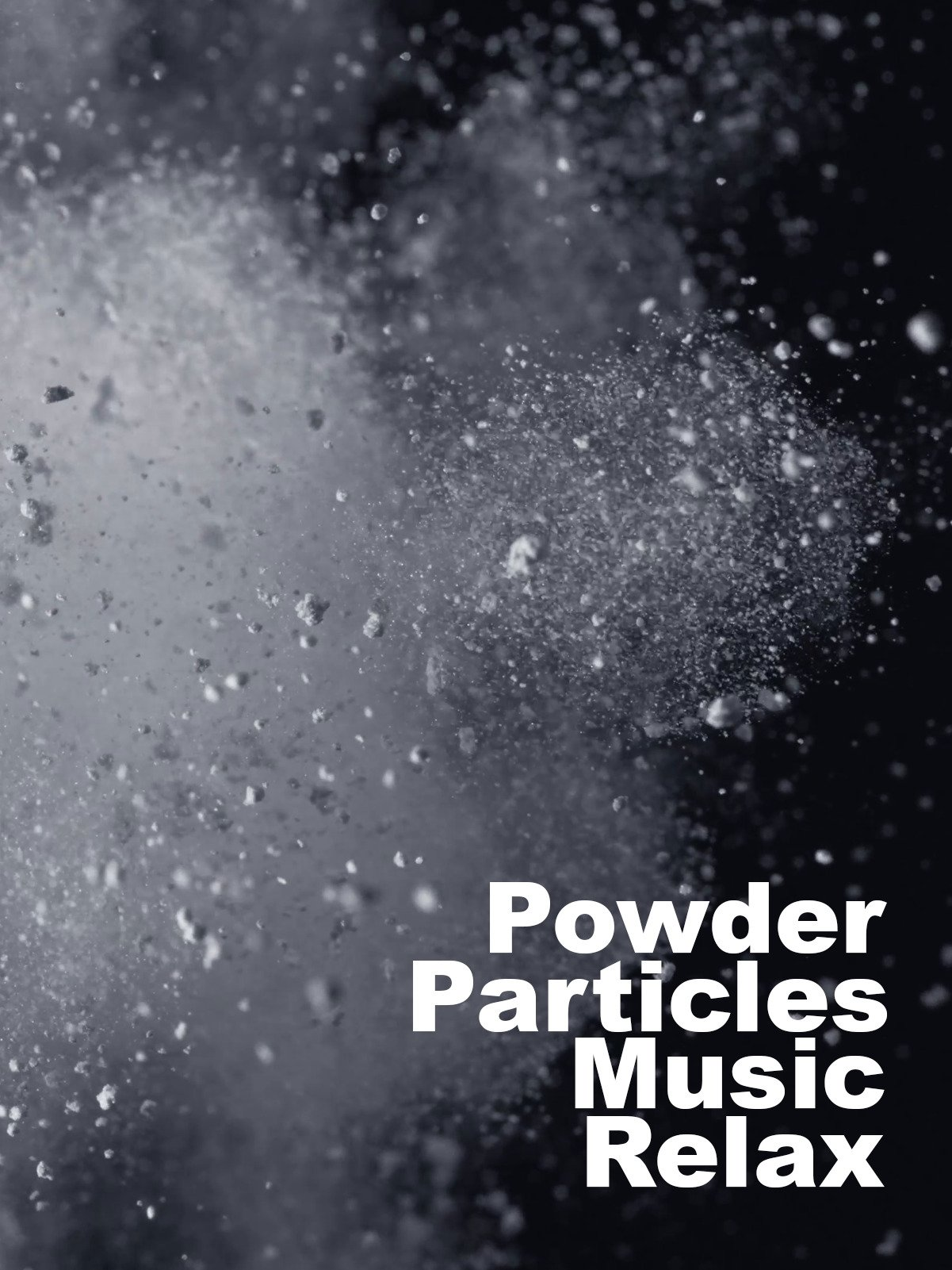 Particles Powder Music Relax