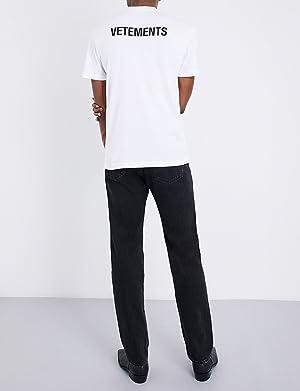 ヴェトモン トップス Tシャツ entry level cotton-jersey t-shirt WHITE 219 [並行輸入品]