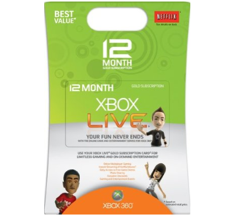 Buy Xbox Live 12 Month Gold Membership [Online Game Code]