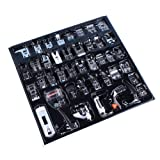 Professional Domestic 42pcs Sewing Machine Sewing Foot Presser foot Presser Feet Set for Brother, Singer, Babylock, Janome, Elna, Toyota, New Home, Simplicity and Kenmore Low Shank Sewing Machines