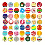100 Pieces Creative Fashion Steel Thumb Tacks Push Pins Decorative Different Patterns for Photos Wall, Maps, Bulletin Board or Corkboards (Color: 50)