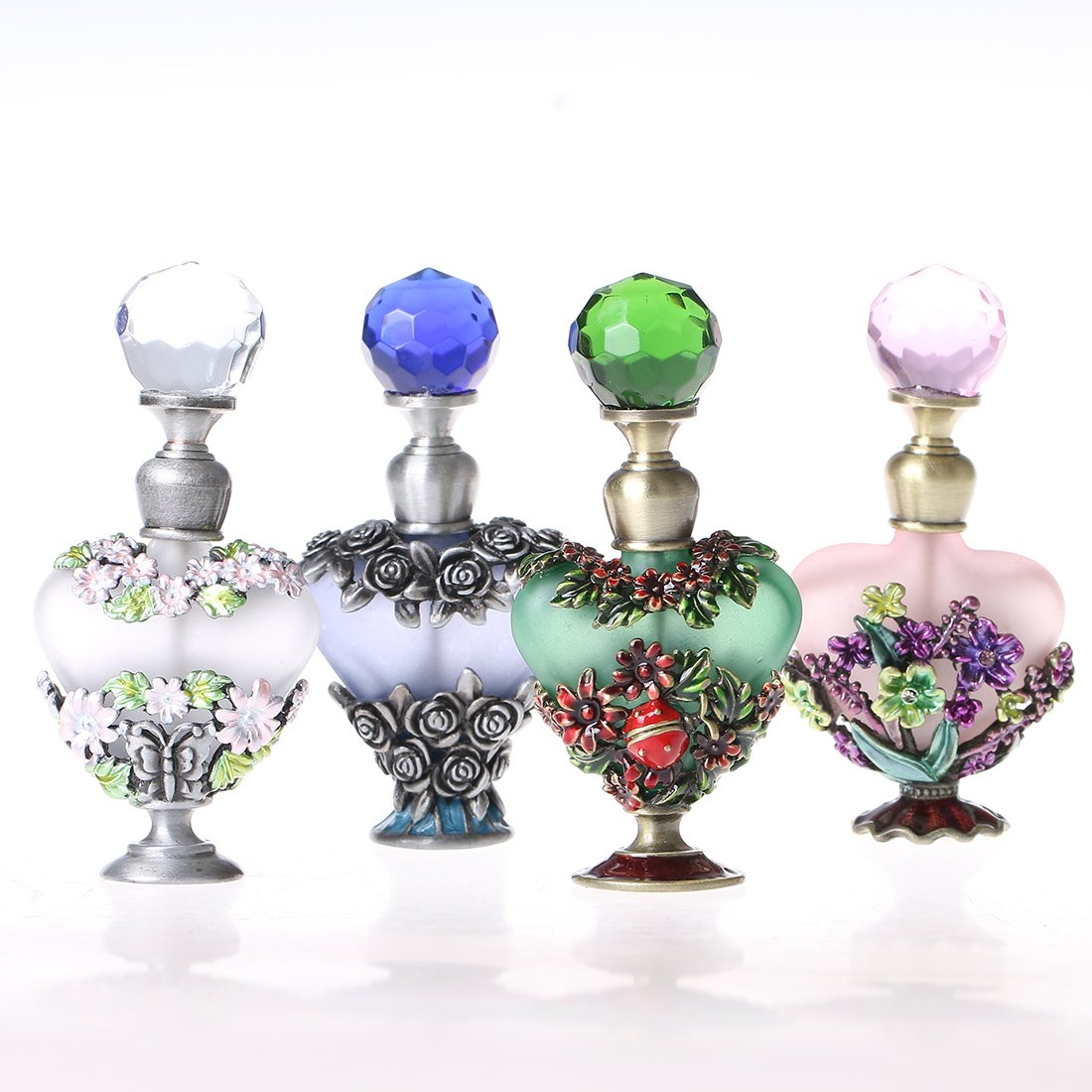 H&D Vintage Magical Violet Refillable Empty Crystal Perfume Bottle Handmade Home Decor Lady Wedding Gift 4