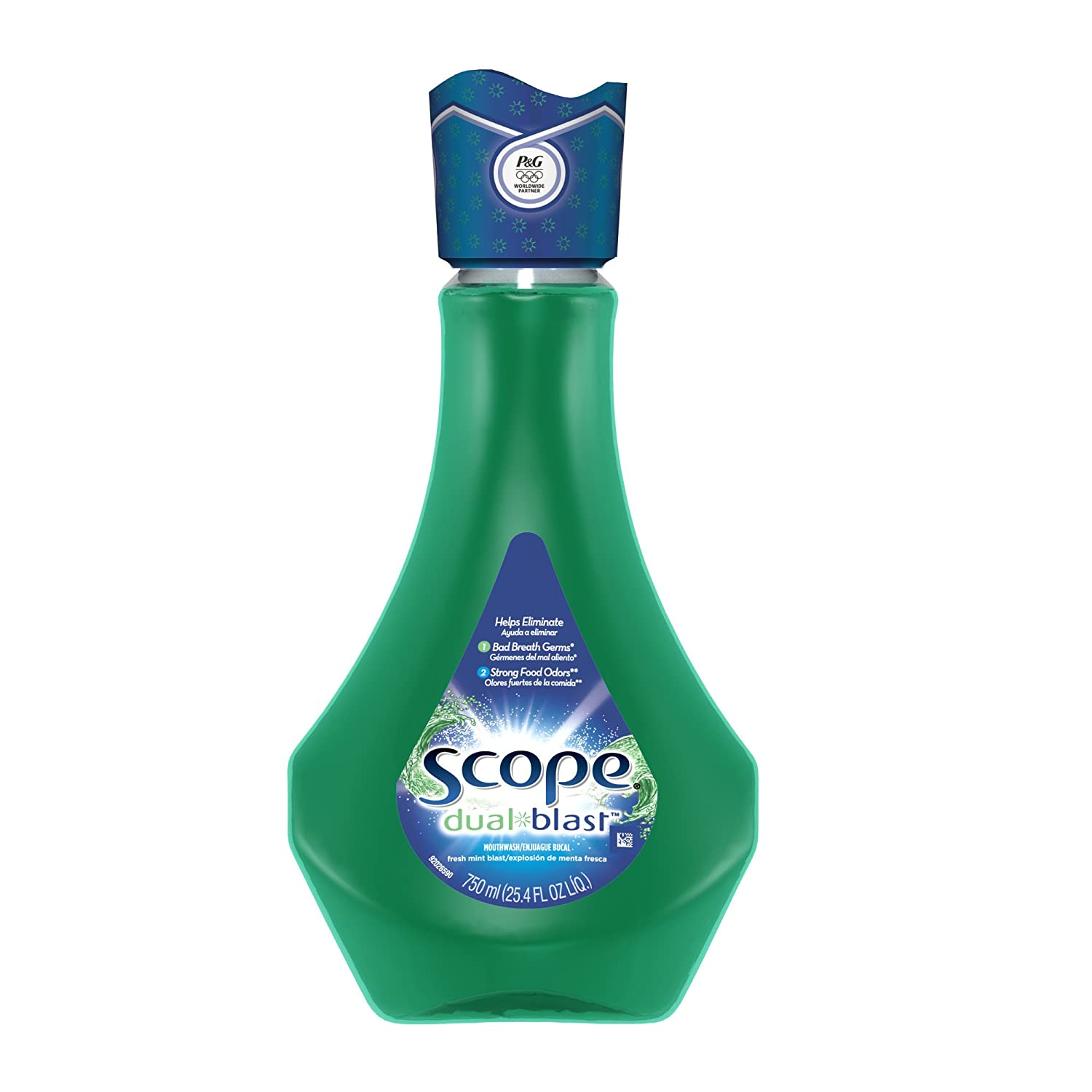 Scope Dual-Blast Fresh Mint Blast Mouthwash 25.4 Fl Oz $1.82