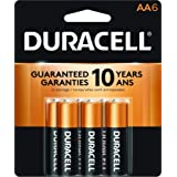 Duracell - CopperTop AA Alkaline Batteries - long lasting, all-purpose Double A battery for household and business - 6 Count (Tamaño: 6 Count)