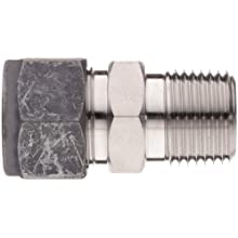 Parker CPI FBZ-SS Series 316 Stainless Steel Compression Tube Fitting, Adapter, Tube OD x NPT Male