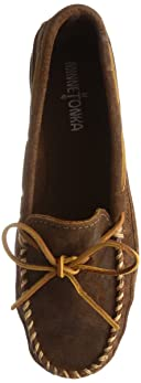 Minnetonka Double Bottom Hardsole: 823 Brown Ruff
