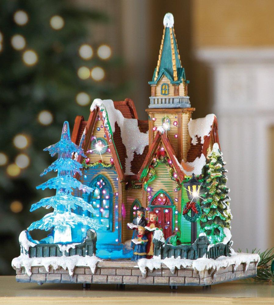 Fiber Optic Christmas Musical Tabletop Church