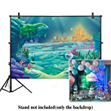 Allenjoy 7x5ft photography Under The Sea Little Mermaid Backdrop ocean Nautical Birthday party banner photo studio booth background newborn baby shower photocall (Color: Style17, Tamaño: 7ft by 5ft)
