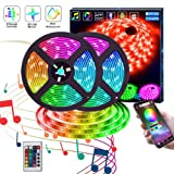 LED Strip Lights,KITHELP IP65 RGB 5050 32.8ft LEDs Color Changing,24key Remote Control and Power Supply,with Bluetooth Phone APP Controller, Lighting Led Strips (Color: Rgb (Red, Green, Blue))