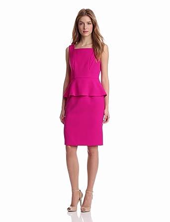 Anne Klein Women's Peplum Sheath Dress, Peony, 4