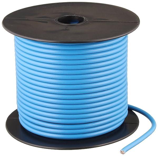 Southwire 55671623 Primary Wire, 12-Gauge Bulk Spool, 100-Feet, Blue (Color: Blue, Tamaño: 12-Gauge)