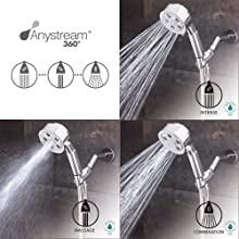 Speakman VS-3010-E2 Neo Anystream High Pressure Low Flow Handheld Shower Head with Hose, Polished Chrome