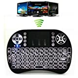 Greatever i8 Airfly Mouse Multi-media Portable Handheld Blacklight Mini Wireless 2.4G LED Backlight i8 Keyboard with Touchpad for Google Android TV Box,HTPC,IPTV,PC,Mac,Pad,XBox 360,PS3 (Color: i8 Whitelight)