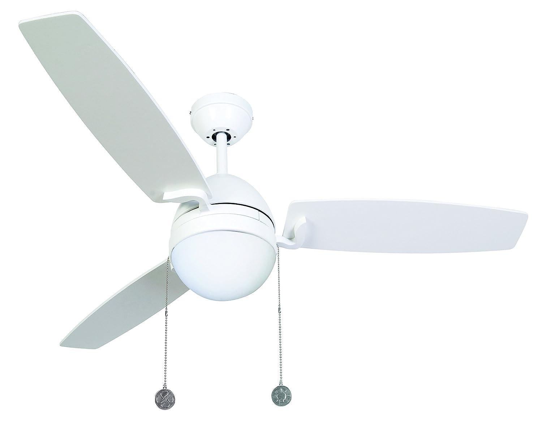 LUCCI AIR Deckenventilator Boreas, 122 cm, mit Licht, Zugketten, weiß 512104