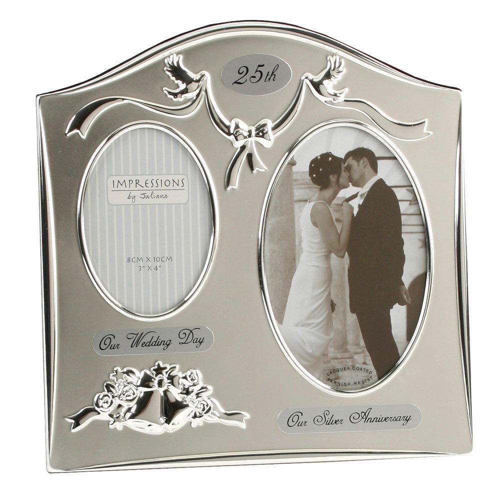 Two Tone Silver Plated Wedding Anniversary
