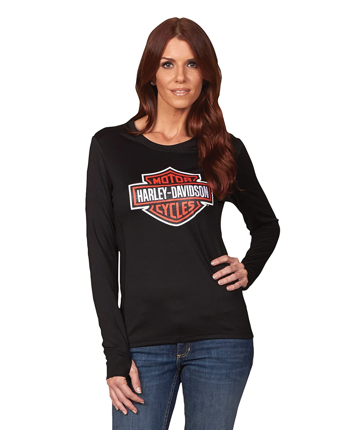Harley-Davidson Womens Lady B&S Synthetic Shirt womens